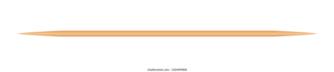 Toothpicks Wooden isolated on white, Bamboo Toothpick small sharp, Realistic Toothpicks wood (vector)