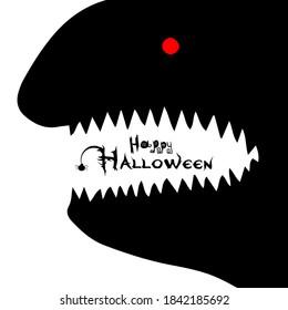 Toothy paste. Happy Halloween. Vector illustration