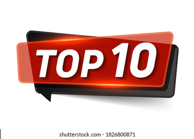 Top 10. List of the top ten. The text name of the winner's award.