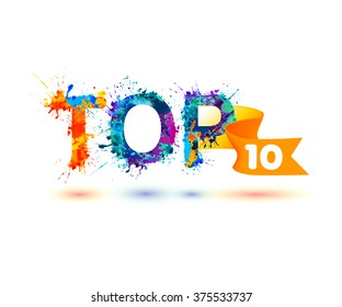 TOP 10. Rainbow splash paint