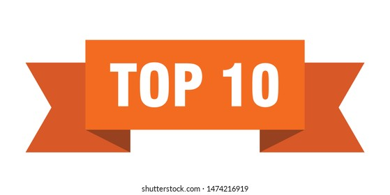 top 10 ribbon. top 10 isolated sign. top 10 banner