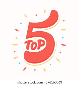 Top 5. Hand lettering.