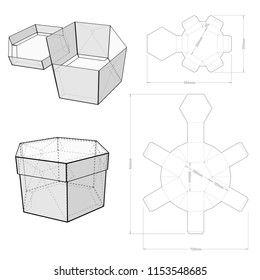 Top and Bottom hexagonal self assembly and Die-cut Pattern