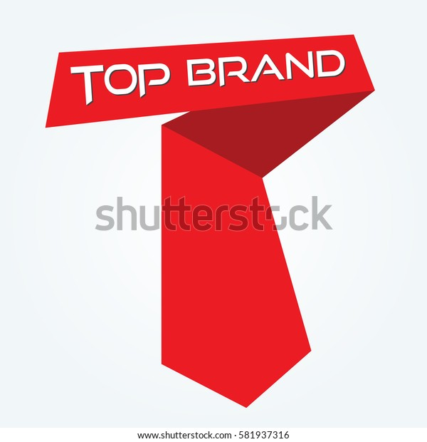 top brand label vector