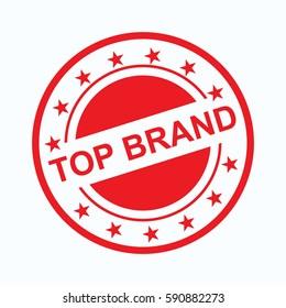 top brand vector logo icon