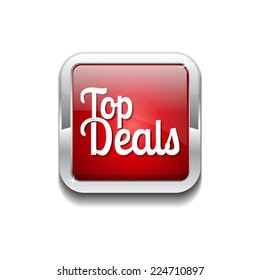 Top Deals Red Vector Icon Button