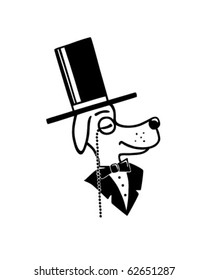 Top Dog - Retro Clipart Illustration