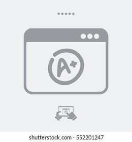 Top evalutation application - Vector flat icon