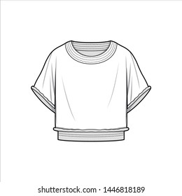 TOP fashion flat sketch template