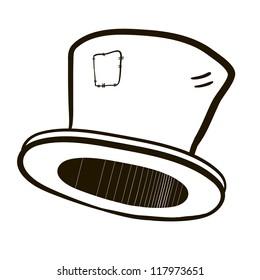 Top Hat. A children's sketch