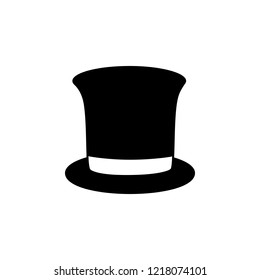 top hat icon. Simple glyph vector of party set for UI and UX, website or mobile application on white background