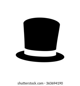 Top hat icon . Vector illustration