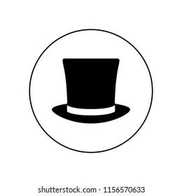 Top hat icon vector, logo