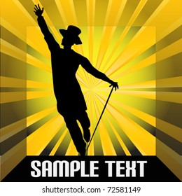 Top Hat and Tails Vector Background