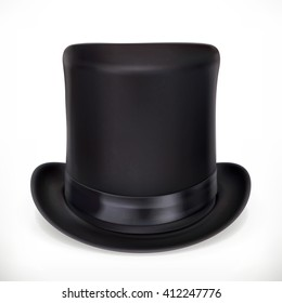 Top hat, vector icon