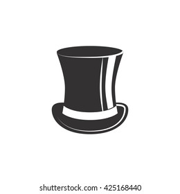 Top hat. Vector illustration on white background.