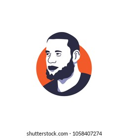 Top highest paid basketball player, LeBron James vector illustration isolated, suitable for your basketball content