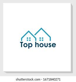 top house logo template design vector, construction logo vector