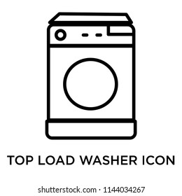 Top load washer icon vector isolated on white background for your web and mobile app design, Top load washer logo concept