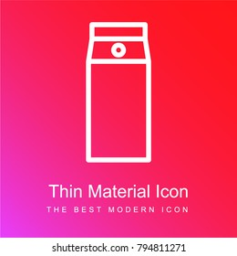 Top load washer red and pink gradient material white icon minimal design