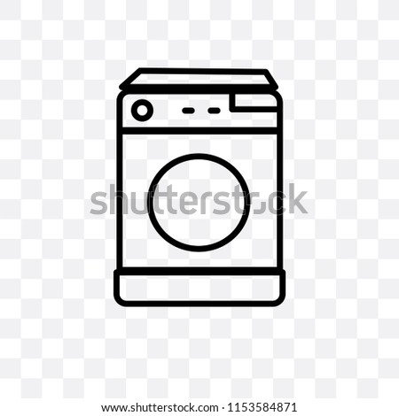 ee76a62ab7 Top Load Washer Vector Icon Isolated Stock Vector (Royalty Free ...