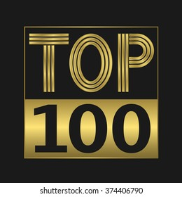 Top one hundred golden sign for music video or other content