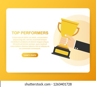 Top Performers. Website template designs. Vector illustration concepts for website and mobile website design and development. Vector stock illustration.