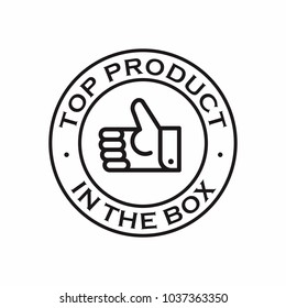 Top Product in the box badge stamp