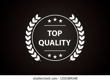 Top quality - Creative and modern white vector label