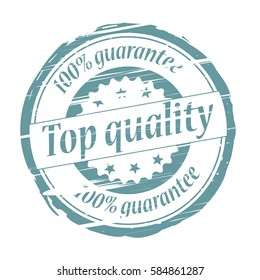 Top quality grunge stamp - vector