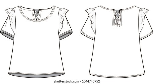 top ruffle tshirt
