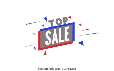 Top Sale sign Blue and Red