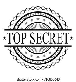 Top Secret Certified Original Stamp Design Vector Art