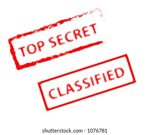 Top Secret and Classified Stamp