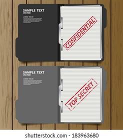 Top secret folder vector illustration