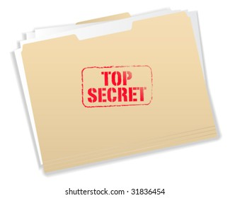 Top Secret Folder - Vector Illustration