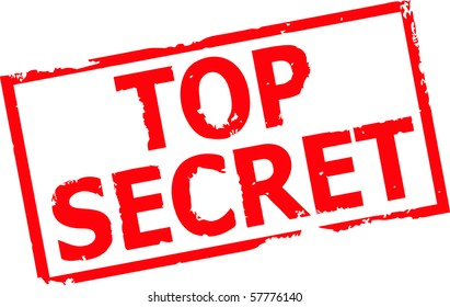 top secret grunge rubber stamp vector illustration