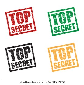top secret icon stamp set