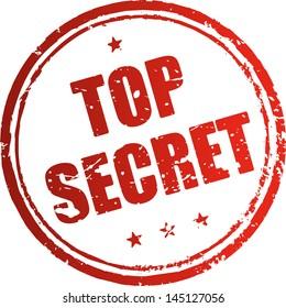 Top secret red rubber stamp