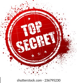 Top secret red rubber stamp