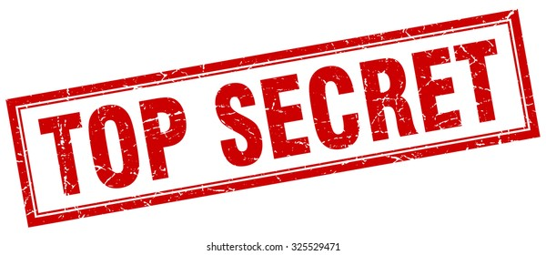 top secret red square grunge stamp on white. top secret stamp. top secret. top secret sign