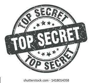 top secret stamp isolated on white