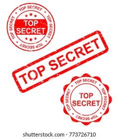 Top secret stamp,vector illustration