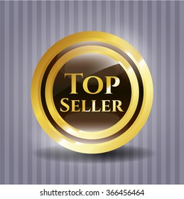 Top Seller gold shiny badge