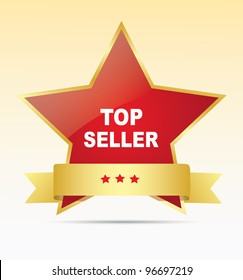 Top seller label. Vector