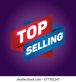 TOP SELLING arrow tag sign.