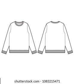 Top sweatshirt tee fashion vector illustration flat sketches template