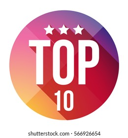 Top Ten button vector