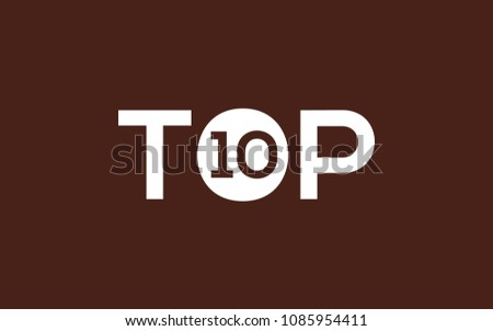 top ten logo design template stock vector royalty free 1085954411