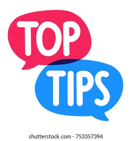 Top tips. Vector hand drawn poster, banner illustration on white background.
